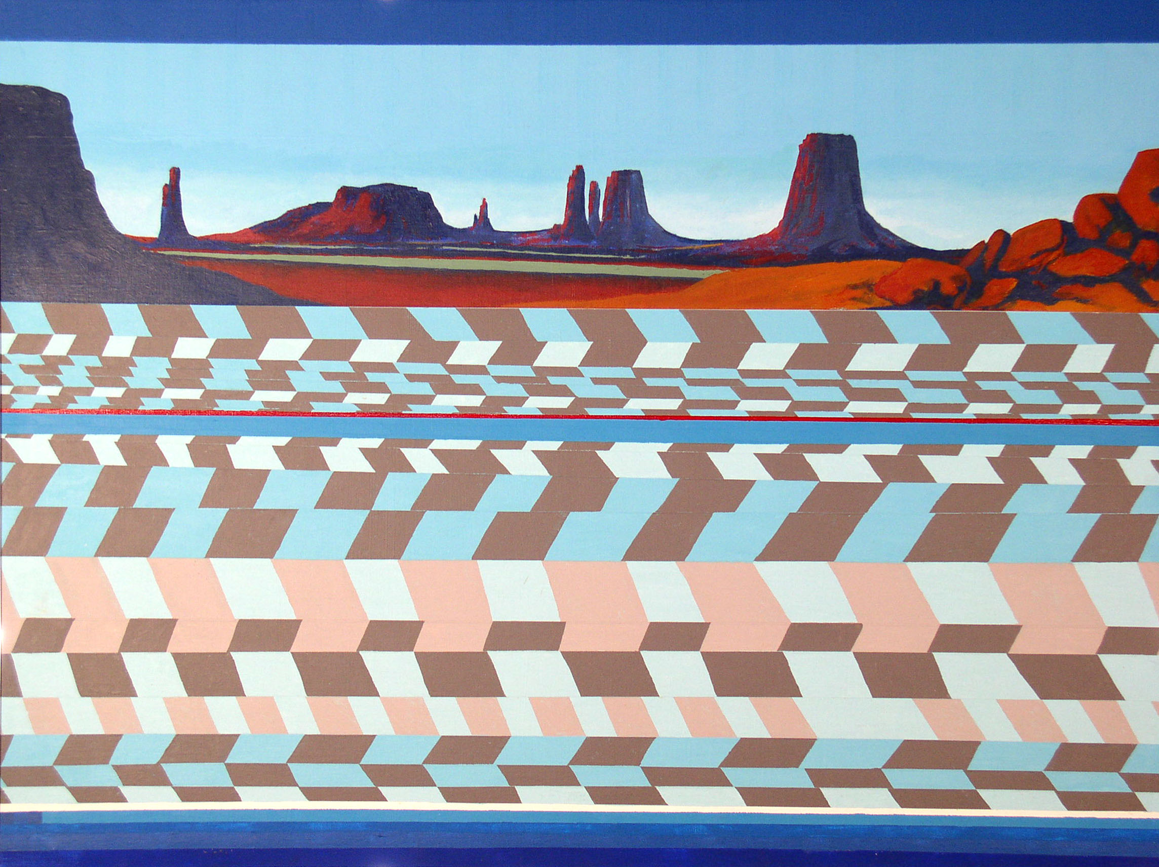 """Monument Valley"" painting by Robert Wilson"