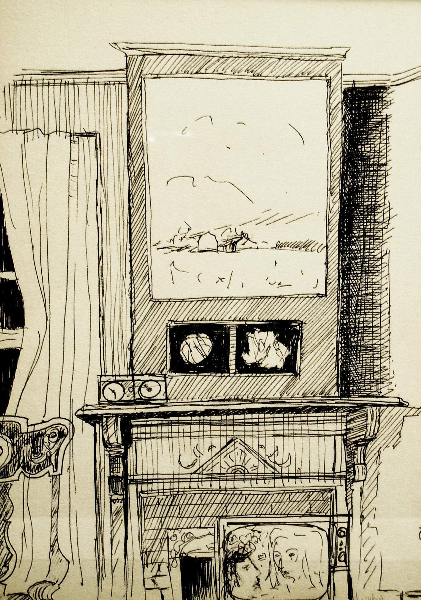 """Style 37-40 """"View from my Pillow"""" 1976 done by Robert Wilson"""