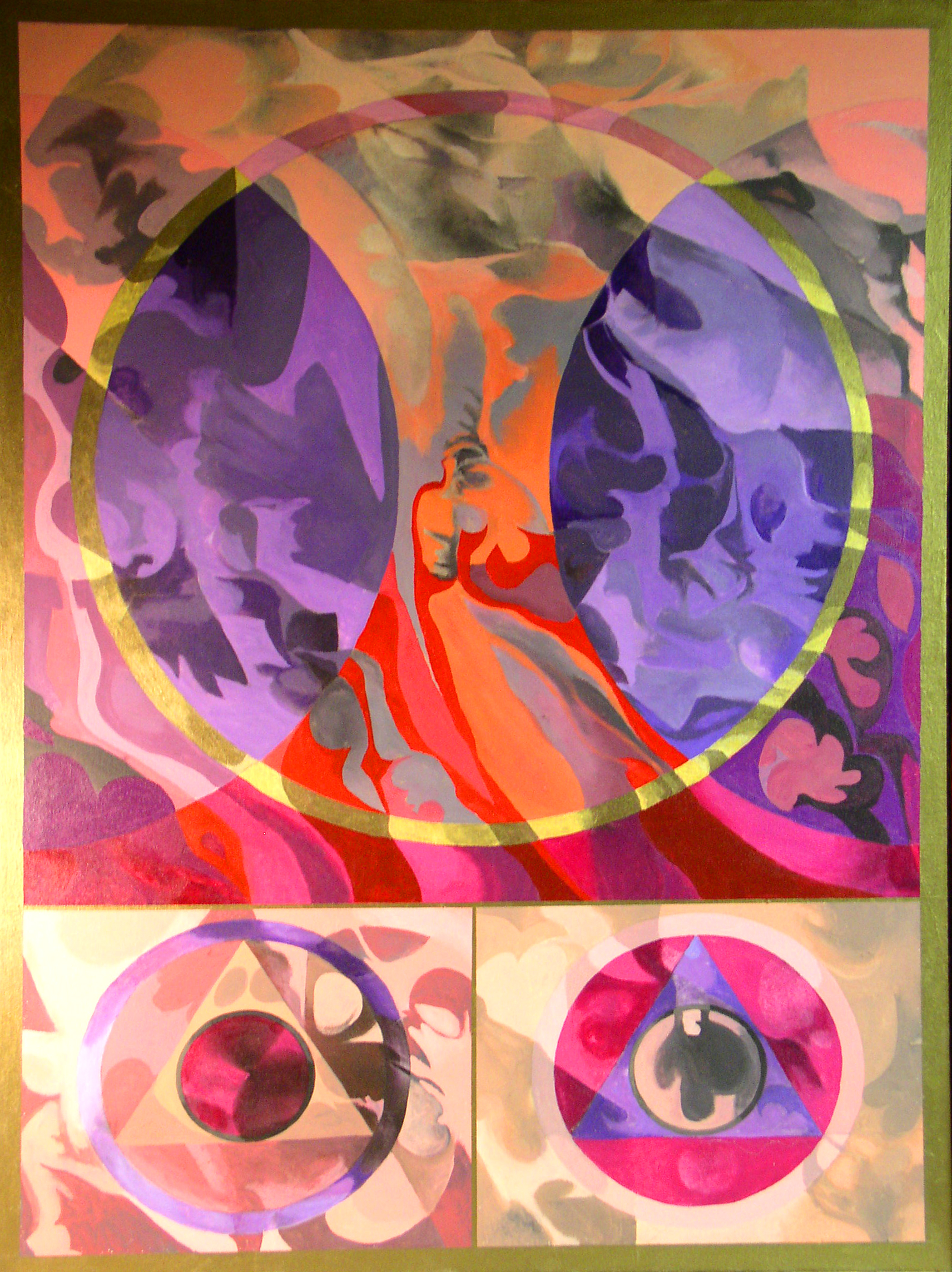 """A Question of Separation, 1990, acrylic on canvas, 30"""" x 42"""""""