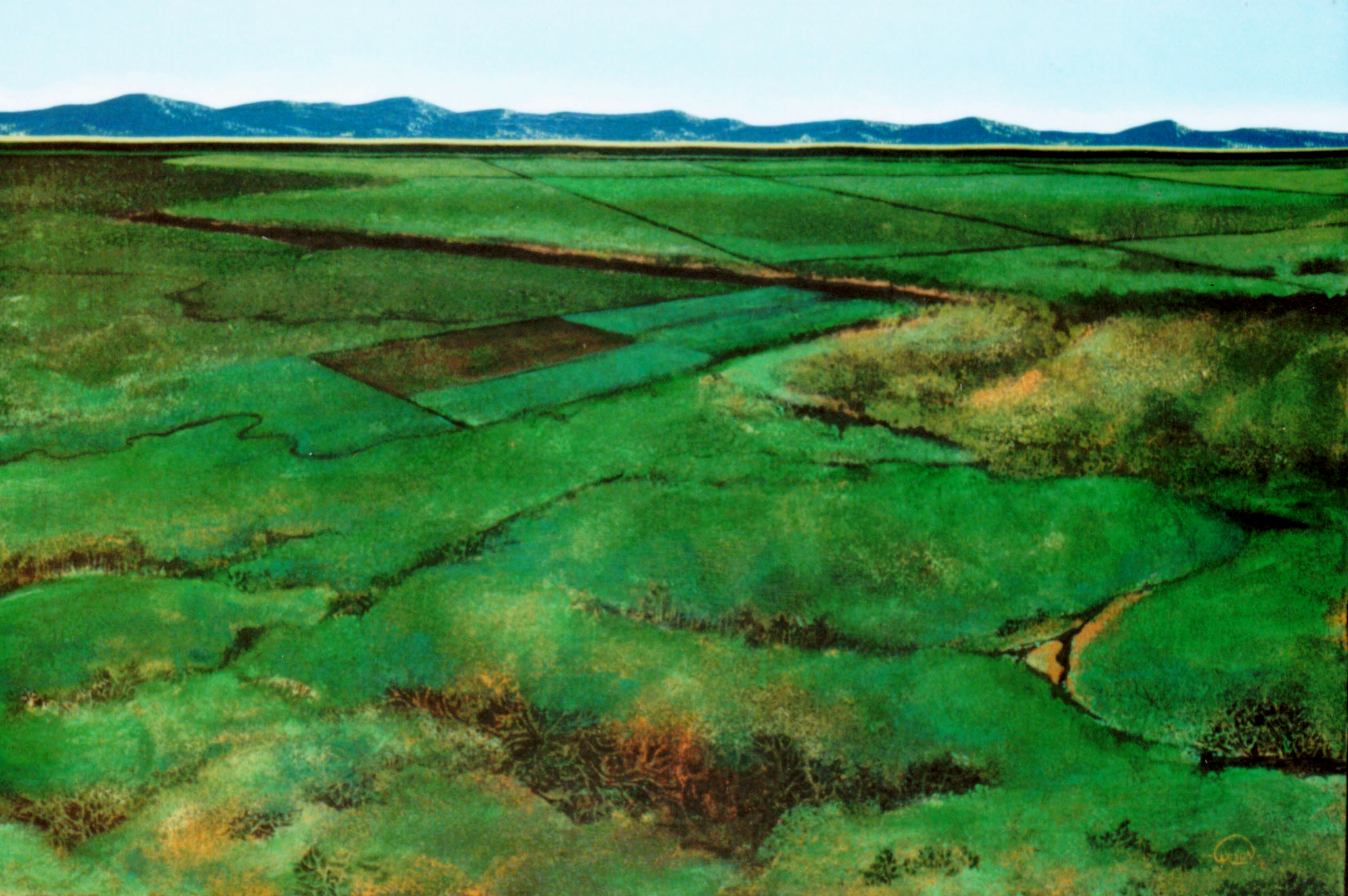 Along the Great Divide, 1981, acrylic on canvas, 24