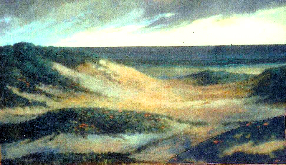 """Approaching Storm, 1993, acrylic on canvas, 24"""" x 36"""""""