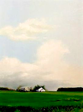 Farm, 1974, acrylic on canvas, 36