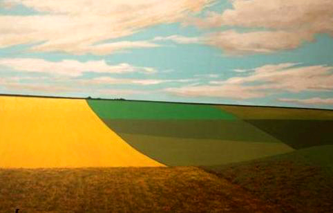 "Fieldscape, 1981, acrylic on canvas, 30"" x 40"""