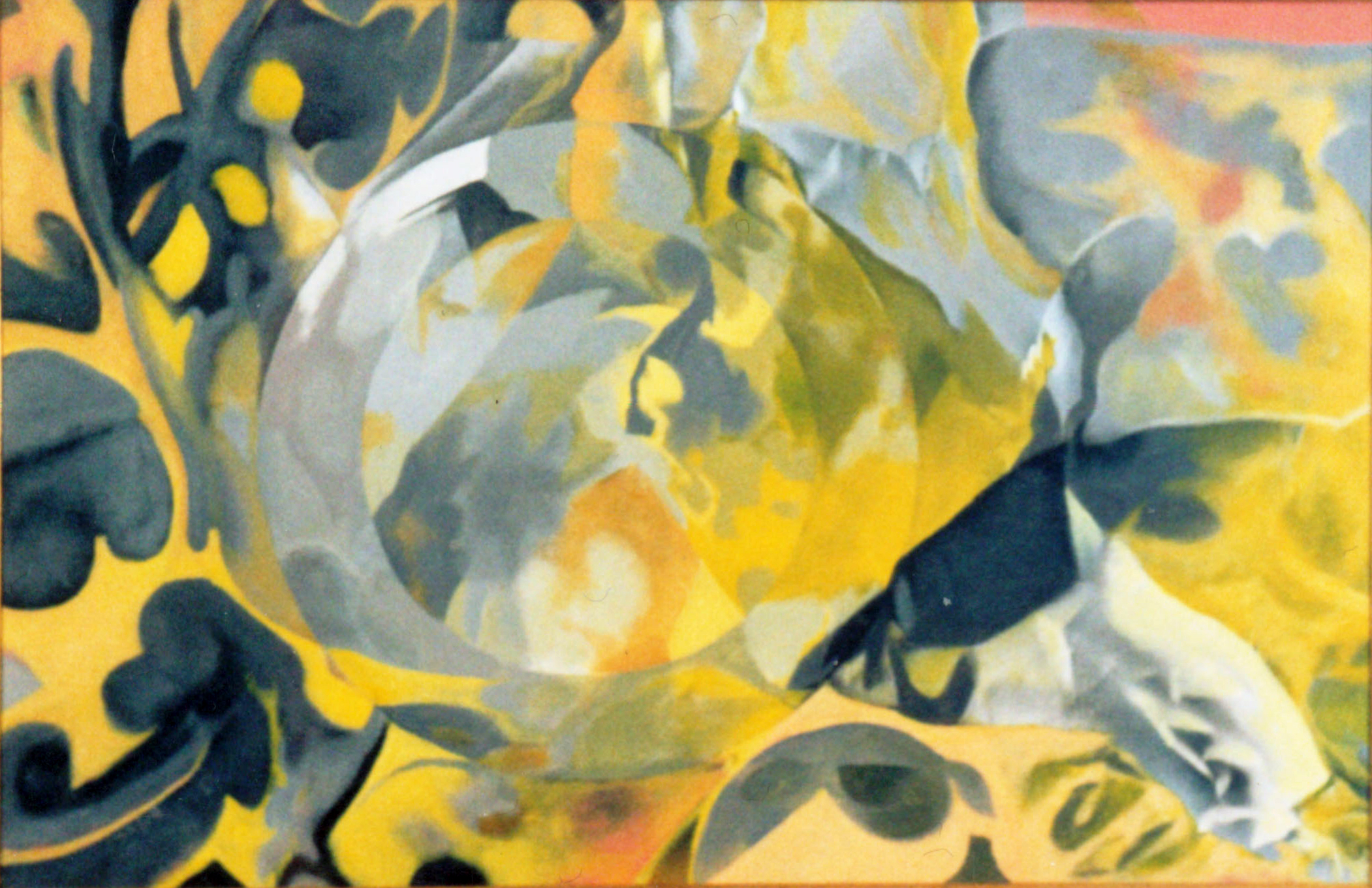 Grey and Yellow, 1987, acrylic on canvas, 19