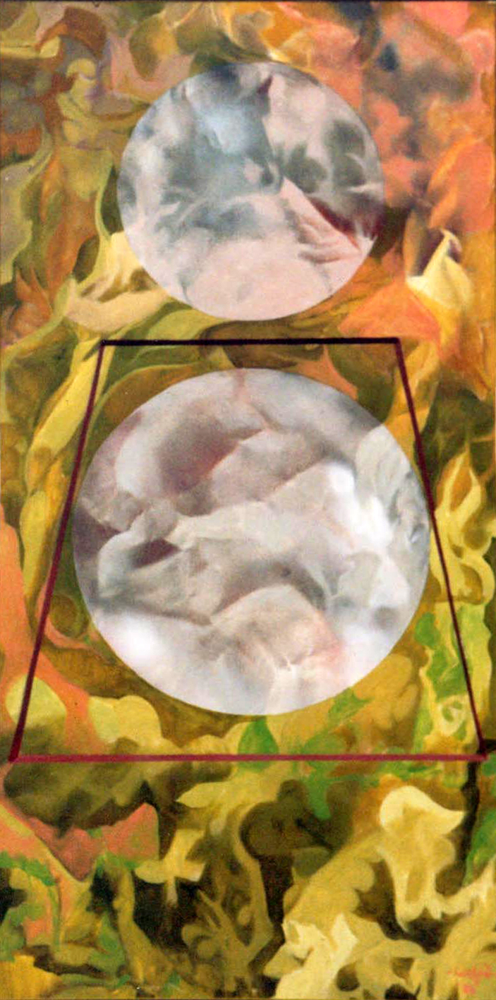 Grey Circle with Trapezoid, 1988, acrylic on canvas, 19