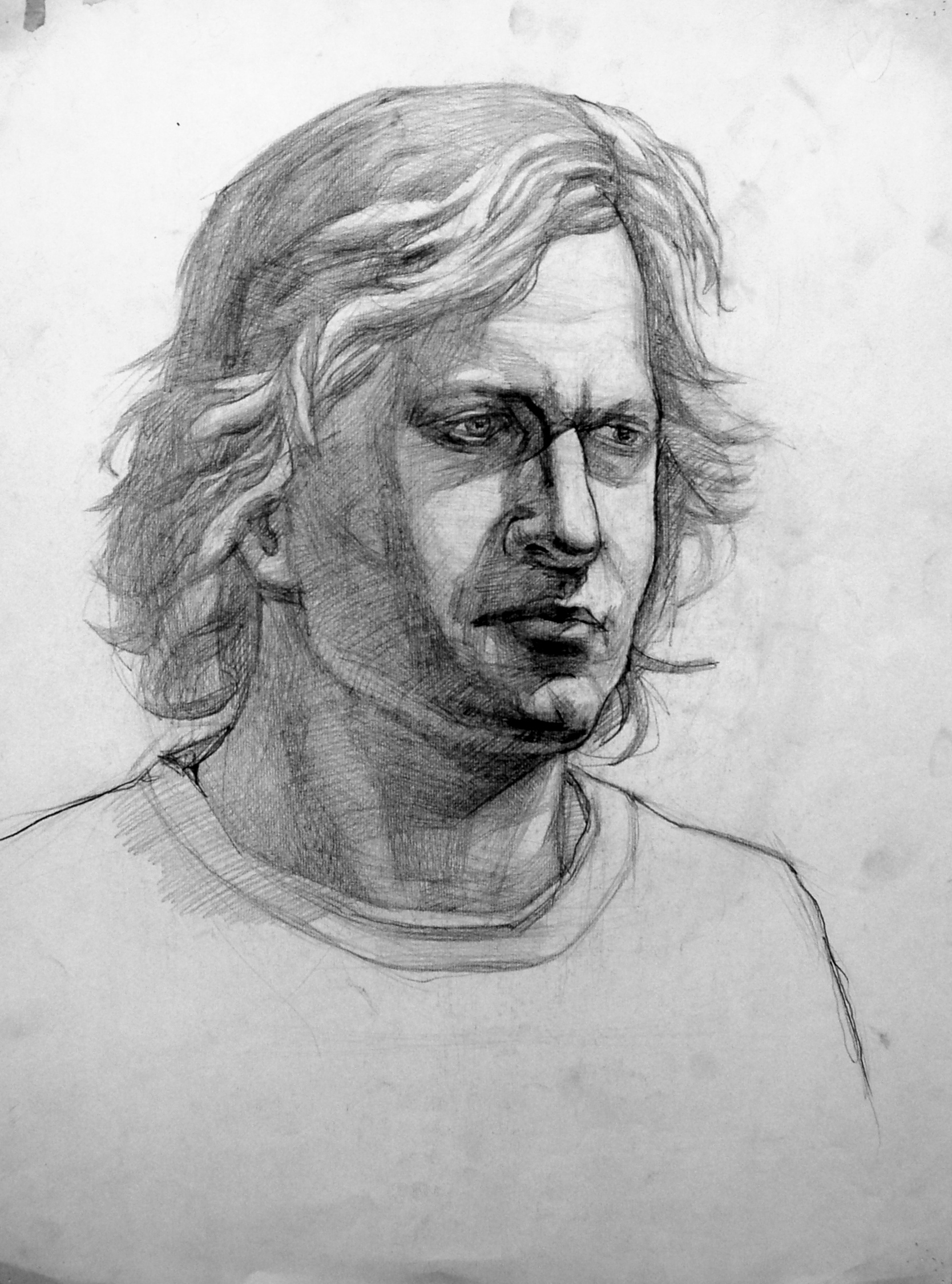 Head Study Graphite on Paper, Juhuon Kim