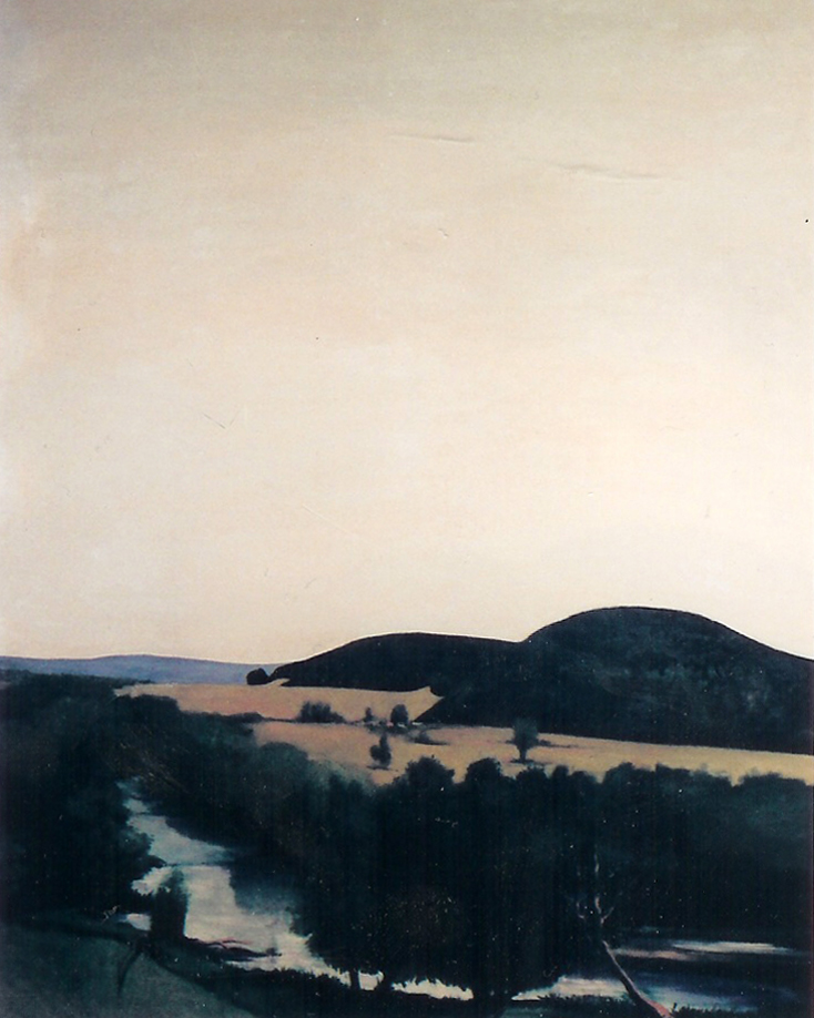 River Bend, 1967, acrylic on canvas, 40
