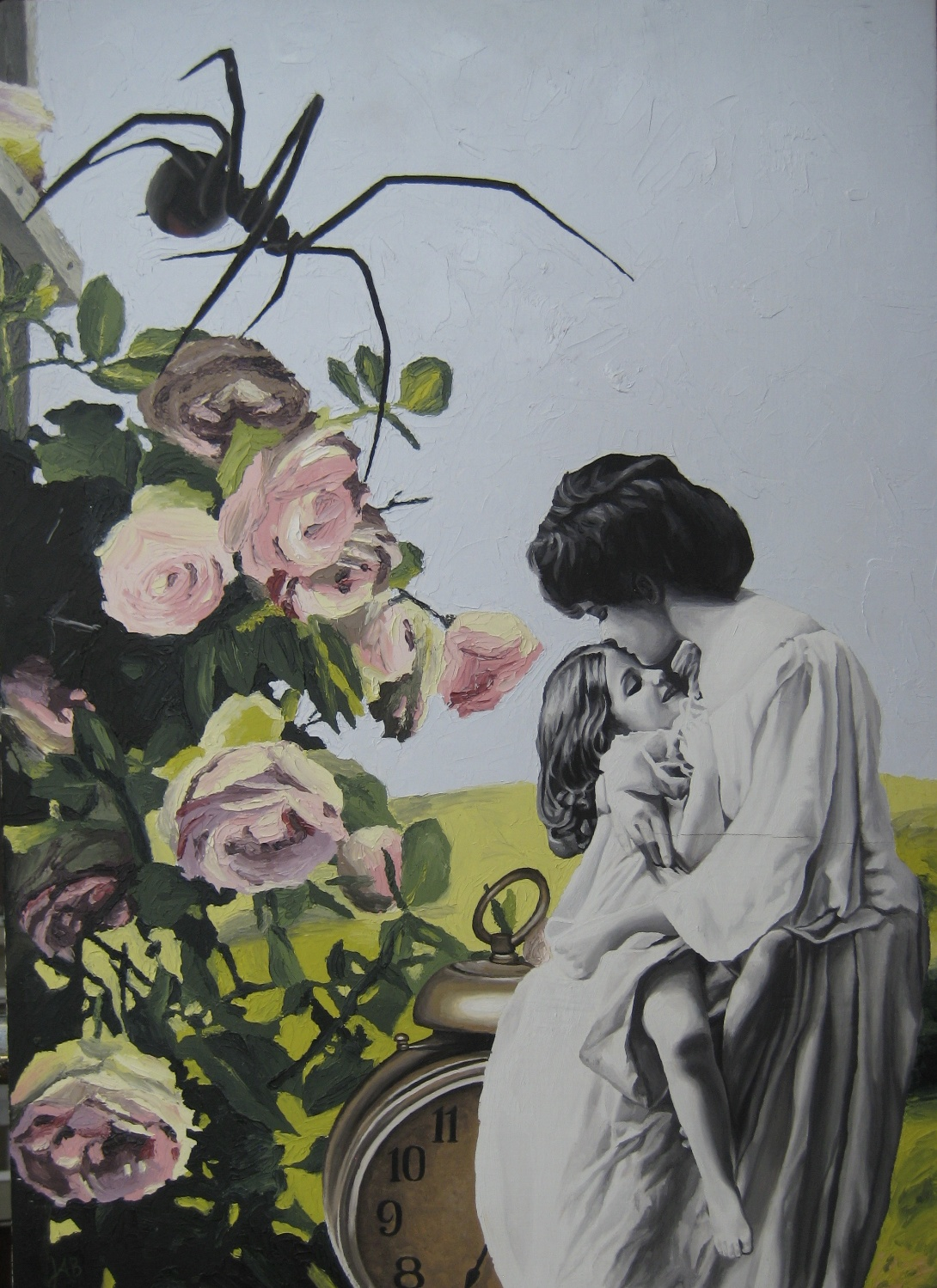 Untitled, oil on board. Justine Barbuto
