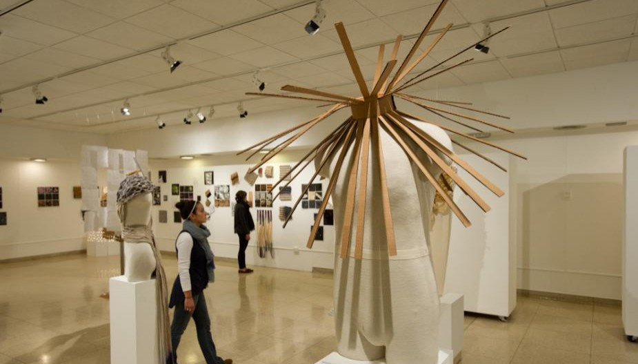 Fibers piece in exhibition