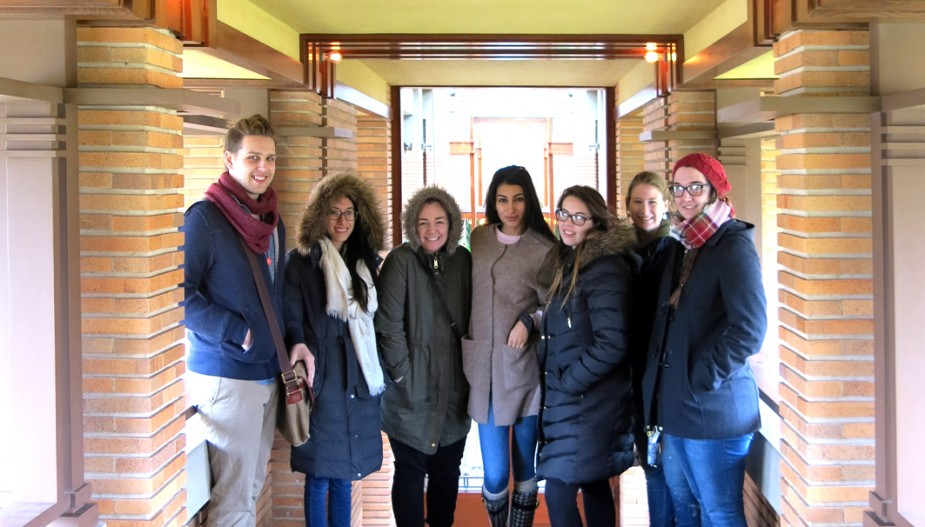 Interior Design students at Darwin Martin House