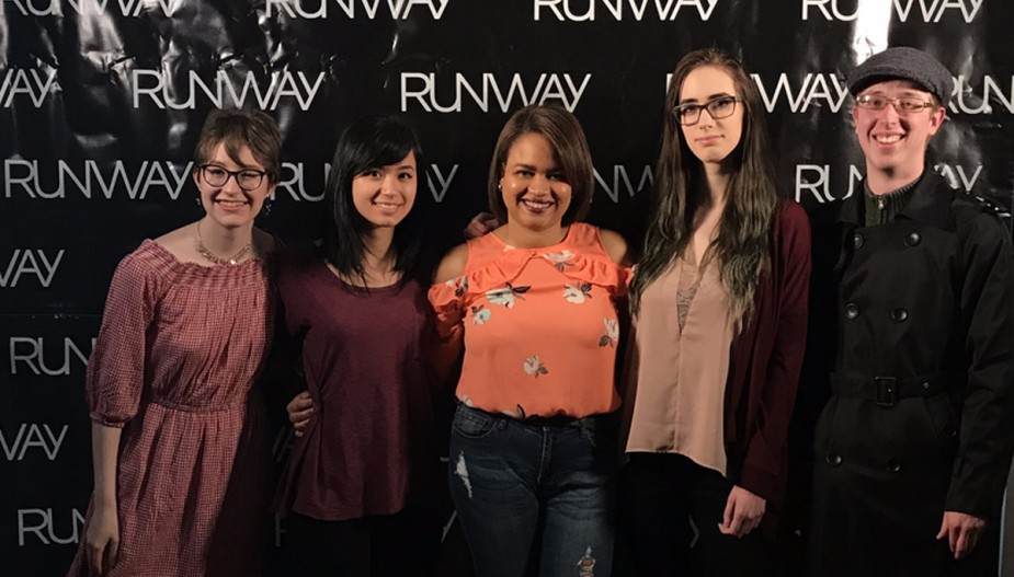 Graphic Design students develop all the animations for the annual Runway event.