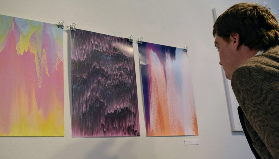 Works from a student's BFA exhibition