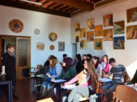 Students in classroom in Siena, Italy